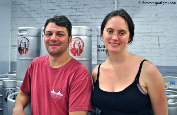 Saint Benjamin Brewing Owners Tim Patton & Christina Burris